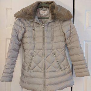 Laundry by Shelli Segal Faux Fur Collar Coat